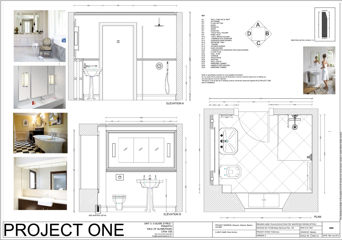 Bathroom drawings design - Interior Design Elevations Drawings Of Our Technical Drawings